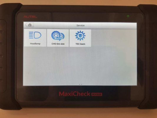 Autel MX808 Service Functions 2