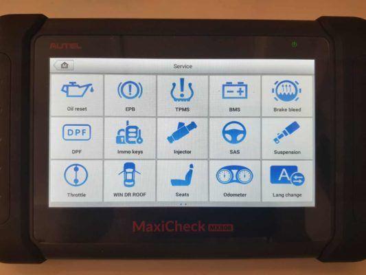 Autel MX808 service functions
